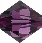 25 x 6mm SWAROVSKI® ELEMENTS Amethyst Xilion Beads